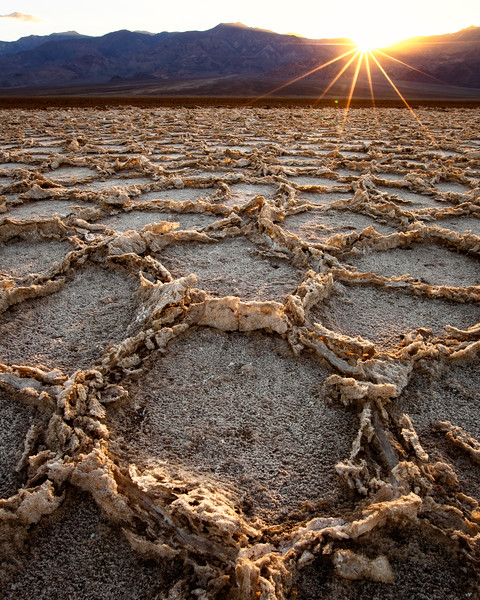 Dried Salt Flats in Death Valley