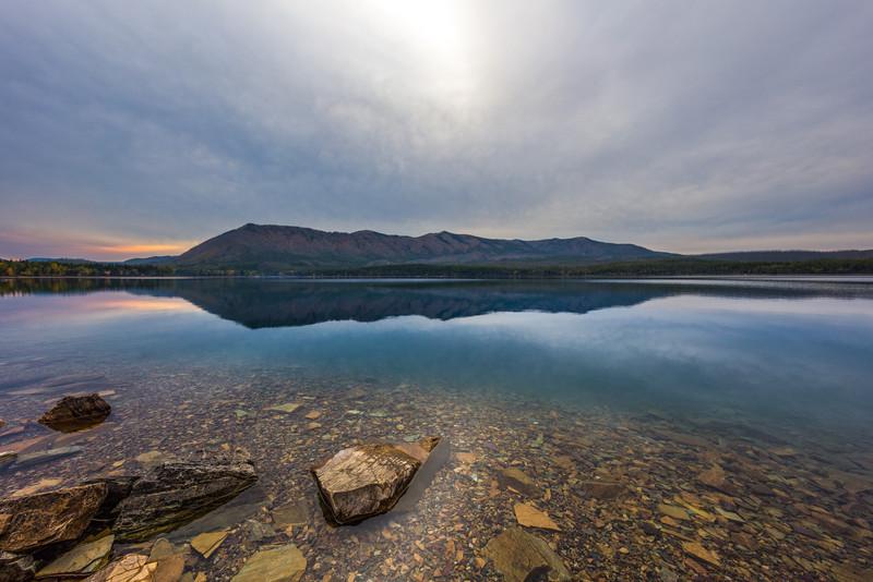 Cloudy Sunset at McDonald Lake
