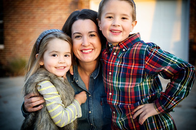 Joey and Amy Davenport and kids at their home Thursday afternoon, November 8, 2012.