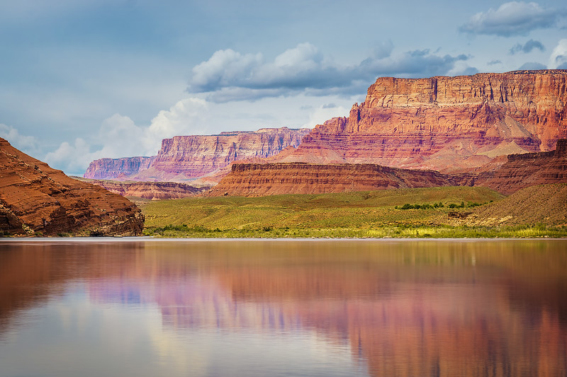 Colorado River Reflections at Lees Ferry (Arizona)