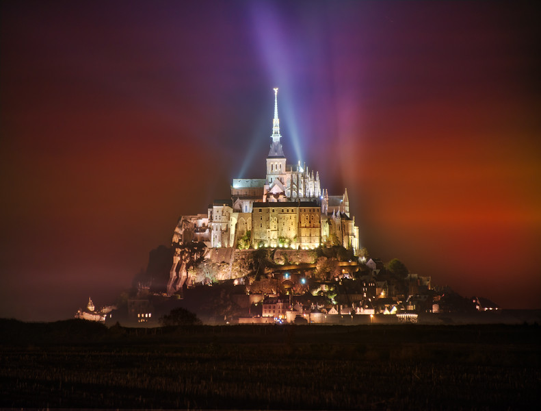 The Magical Castle at Night
