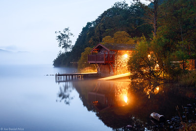 Duke of Portland Boathouse, Under Moonlight, Ullswater, Lake District, Cumbria, England