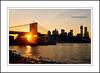 Brooklyn Bridge Sunset