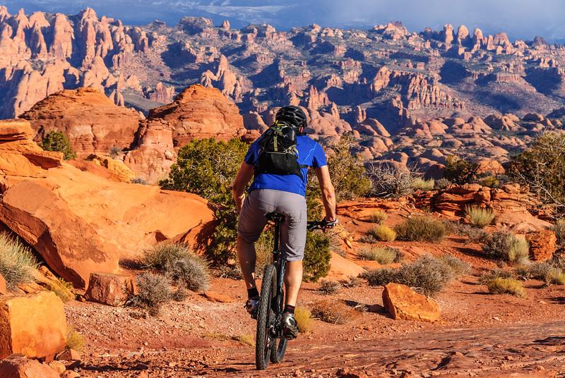 Red rock riding, Moab, Utah
