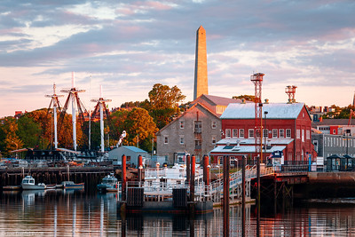 Charlestown Navy Yard, Bunker Hill Monument, USS Constitution, Boston, Massachusetts, America