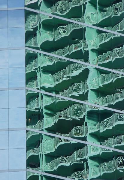 reflected balconies, miami