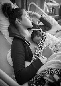 Mamma and newborn