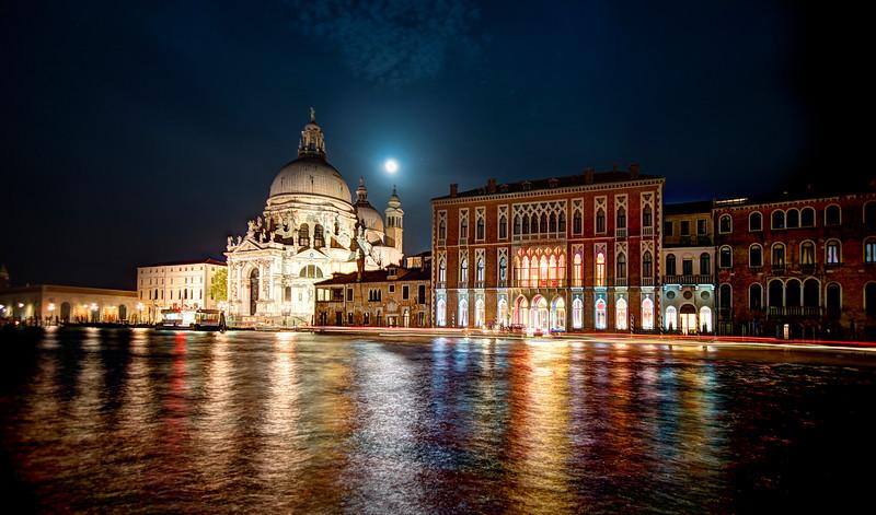 Black Venice Water At Night