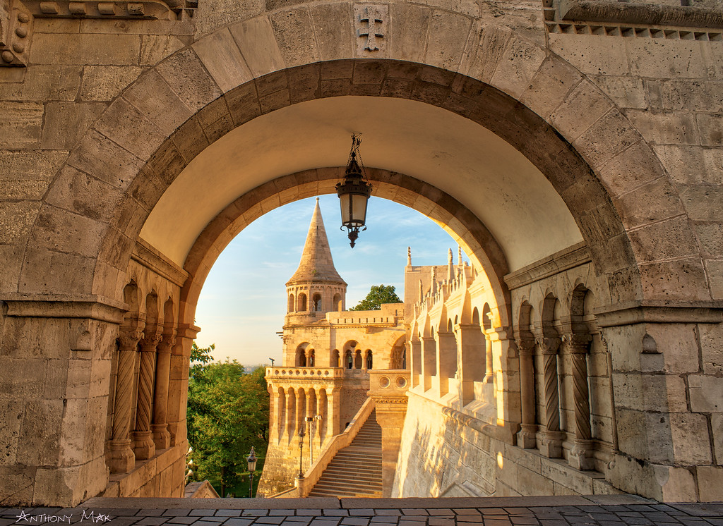 """Fishermen's Bastion Through an Arch"""