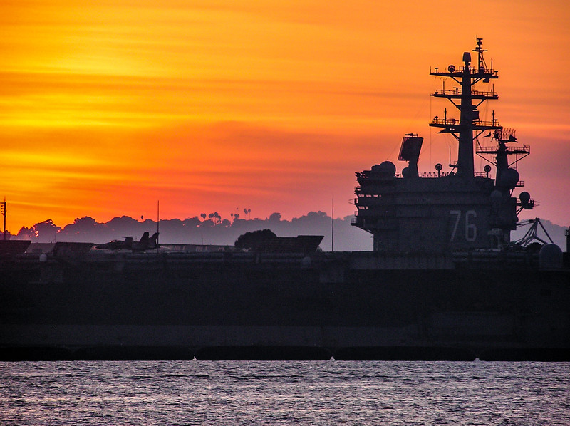 The USS Ronald Reagan (CVN-76) at port in San Diego, California 2009.