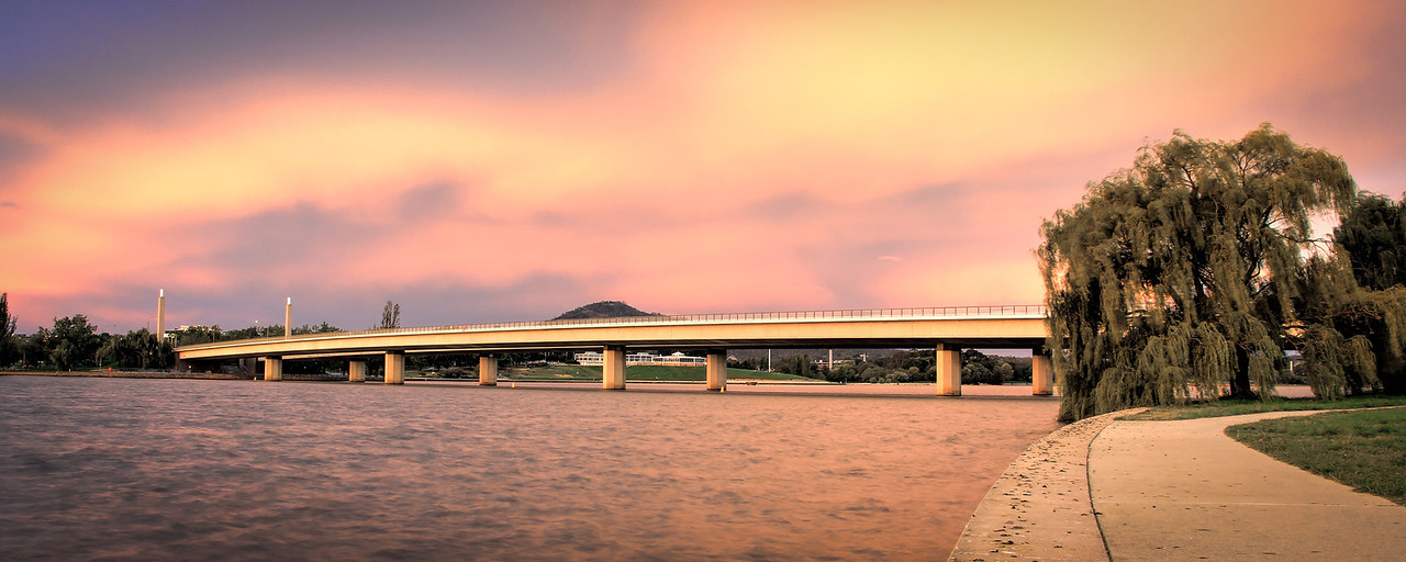 Commonwealth Avenue Bridge at Sunset