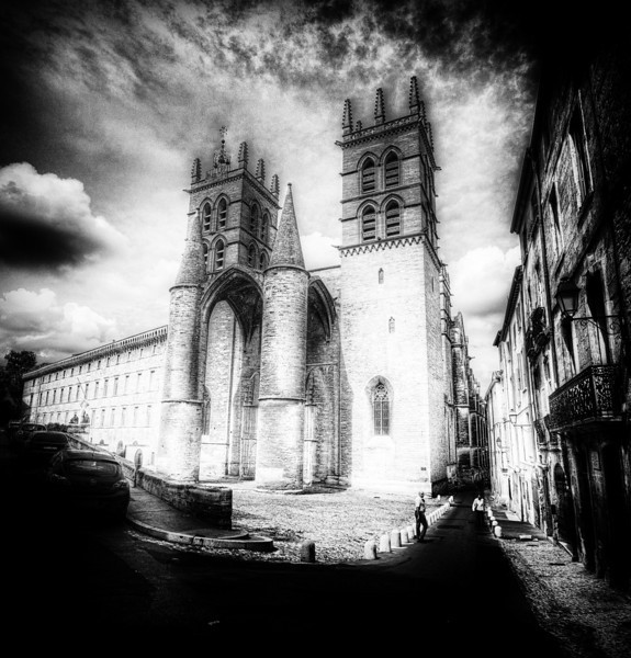 "<h2>Cathédrale Saint-Pierre de Montpellier</h2><br/>We passed this amazing cathedral a few times while walking around Montpellier. It looked great from almost any angle, and I really liked the lines and shapes. That was part of the reason I decided to go with this treatment.<br/><br/>- Trey Ratcliff<br/><br/><a href=""http://www.stuckincustoms.com/2012/08/24/cathedrale-saint-pierre-de-montpellier/"" rel=""nofollow"">Click here to read the entire post at the Stuck in Customs blog.</a>"