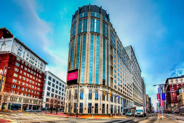 The Wyndam Hotel in Cleveland