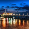 "<h2>The Pier in Santa Monica</h2><br/>After we finished shooting down on the beach, we moved the photowalking party up to the pier.  There was just an edge of light left when I took this photo.<br/><br/>The dock is in two parts.  The first part has the amusement park and the second part extends further out into the sea.  Sometimes docks aren't so great for night shots because they are shaky and move with the waves.  But this one was pretty solid — I suppose because of the rides and whatnot that also need to be stable.  Anyway, it was more than steady enough for the very long exposures need for the shot.<br/><br/>- Trey Ratcliff<br/><br/><a href=""http://www.stuckincustoms.com/2012/05/28/23219/"" rel=""nofollow"">Click here to read this post at the Stuck in Customs blog.</a>"