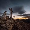 Cristo Pensante on the summit of Monte Castellazzo