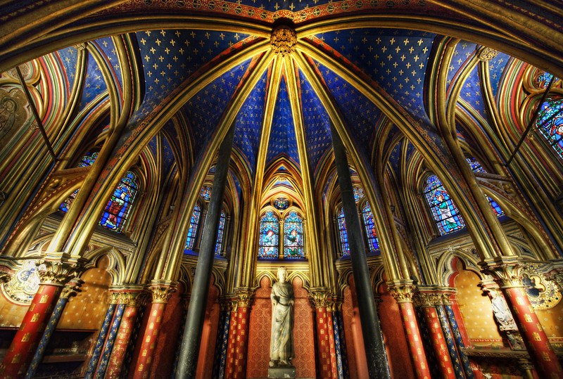 "<h2>The Cathedral Under the Cathedral</h2> <br/>What an awesome place this is… This is the cathedral that is on the bottom level of Sainte-Chapelle. I did my best to capture the feeling of this place, and I hope I did an adequate job.<br/><br/>This is a handheld HDR taken with 5 exposures. It was really quite difficult to hold the camera still. I felt a bit like a sniper in Call of Duty.<br/><br/>- Trey Ratcliff<br/><br/><a href=""http://www.stuckincustoms.com/2011/12/09/the-cathedral-under-the-cathedral/"" rel=""nofollow"">Click here to read the rest of this post at the Stuck in Customs blog.</a>"
