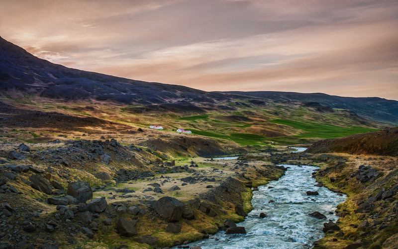 "<h2>Soft Sunset over the Gentle Stream</h2> <br/>Every time I visit this little stream in the northern part of Iceland, it seems exactly the same. It makes me wonder if it ever gets high or low or just flows perfectly all the time.<br/><br/>If it does flow perfectly like this all the time, I'd be tempted to build a house right over it! Wouldn't it be cool to have a perfect stream just flow right through your home?<br/><br/>- Trey Ratcliff<br/><br/><a href=""http://www.stuckincustoms.com/2012/07/15/soft-sunset-over-the-gentle-stream/"" rel=""nofollow"">Click here to read the rest of this post at the Stuck in Customs blog.</a>"