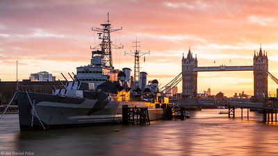 HMS Belfast, Tower Bridge, London, England