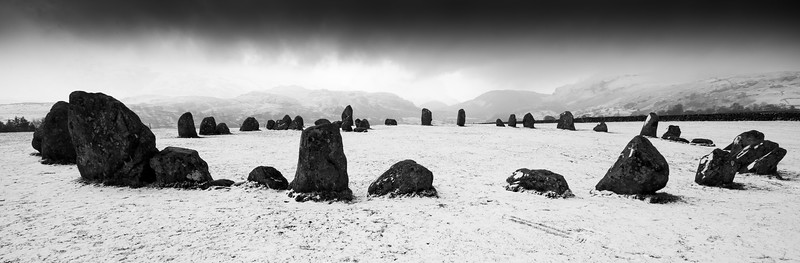 Castlerigg stone circle in the snow