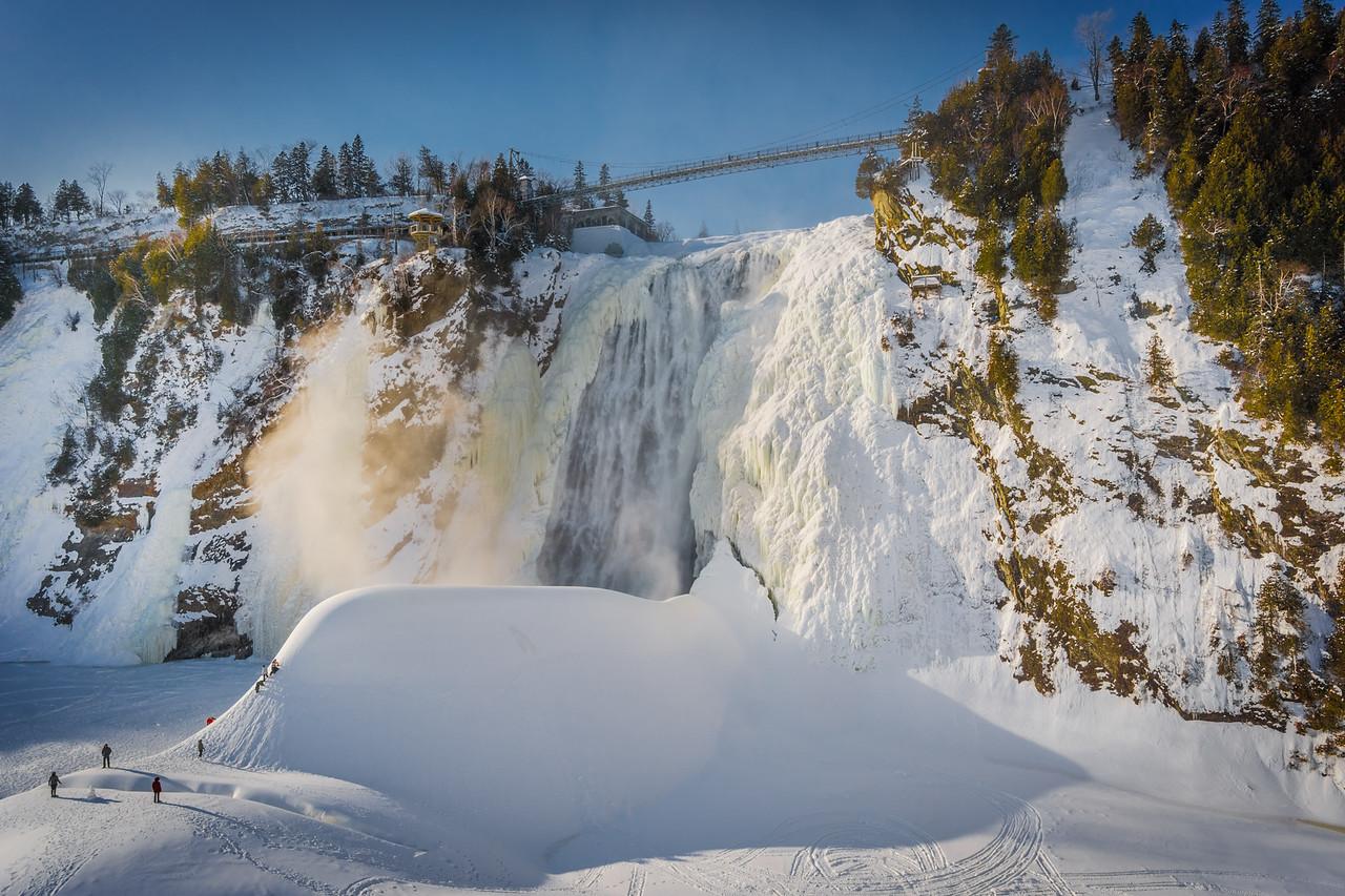 Frozen Montmorency Falls (Quebec)