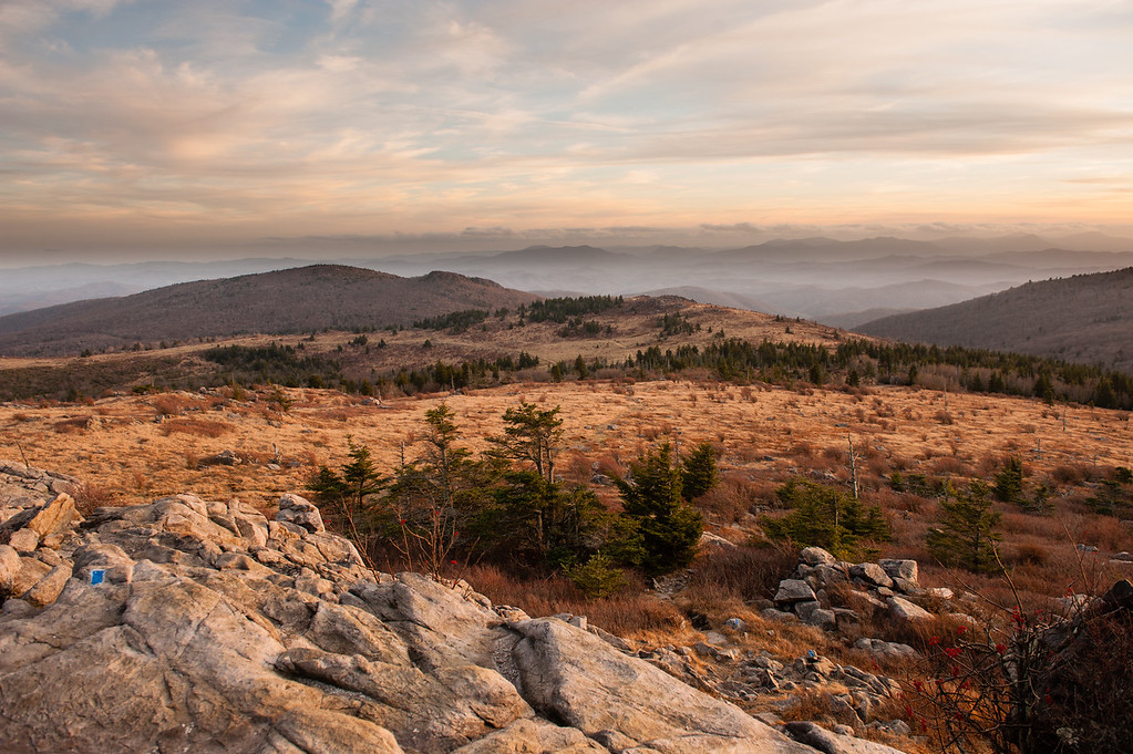 Grayson Highlands State Park offers some spectacular views of the Blue Ridge Mountains.