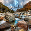 "<h2>The River Runs Through the Andes</h2> <br/>Getting to this position was not as long a hike as the others around Patagonia, but it was no cakewalk! It was one of those strange river-rock strewn areas where the rocks seemed to be the perfect size for spraining your ankles. I had the tripod extended to act like a walking stick, although it's not the most handy walking stick with a giant Nikon on one end of it!<br/><br/>- Trey Ratcliff<br/><br/><a href=""http://www.stuckincustoms.com/2009/11/09/join-team-stuck-in-customs-on-kiva/"" rel=""nofollow"">Click here to read the rest of this post at the Stuck in Customs blog.</a>"
