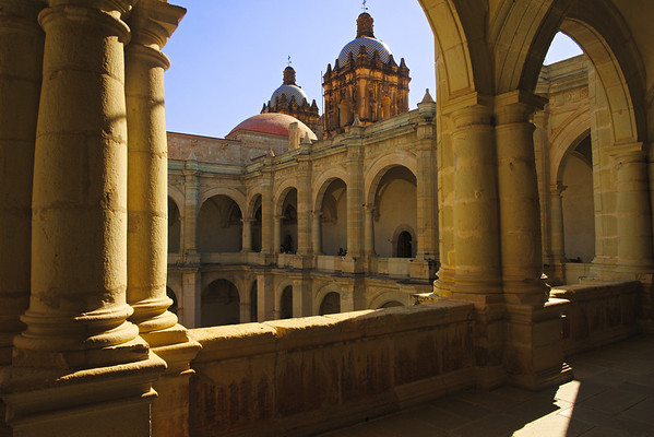 A historical temple in the city of Oaxaca towards the southern part of Mexico