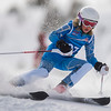 Aurora Railsback from Brighton competes in the Youth Ski League races at Brian Head Resort Sunday, March 11, 2018.