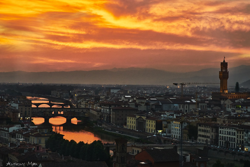 """Burning Skies Over Florence"""