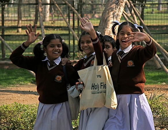 school children, new delhi