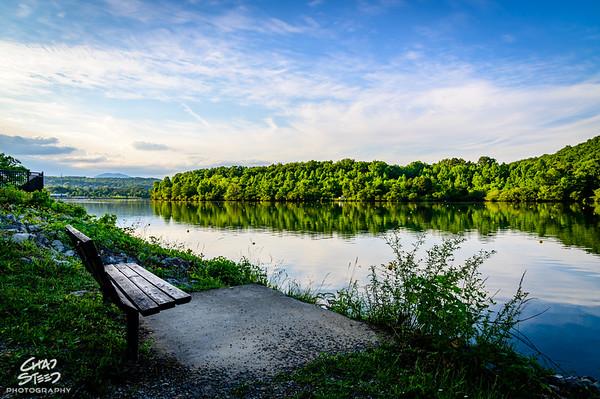 Bench View of Melton Hill Lake