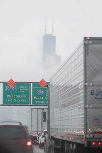Willis Tower from northbound I-90/94 on October 14, 2017.