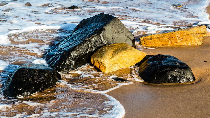 Embleton Beach Rocks at Sunset