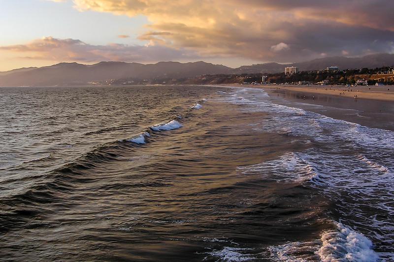 Surf on Santa Monica Beach