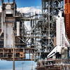 "<h2>The Shuttle Machine</h2> <br/>I went out to the launchpad during the ""retraction event"" which is quite exciting. Well, it's kind of exciting because it's all in slow motion. The unit retracts very very slowly – so slowly you barely even notice it. The whole thing takes over an hour, but it's still pretty cool.<br/><br/>About halfway through, I got the feeling that the shuttle was intertwined into this huge, hulking machine, and that is when I grabbed this shot.<br/><br/>- Trey Ratcliff<br/><br/><a href=""http://www.stuckincustoms.com/2012/08/25/the-shuttle-machine/"" rel=""nofollow"">Click here to read the entire post at the Stuck in Customs blog.</a>"