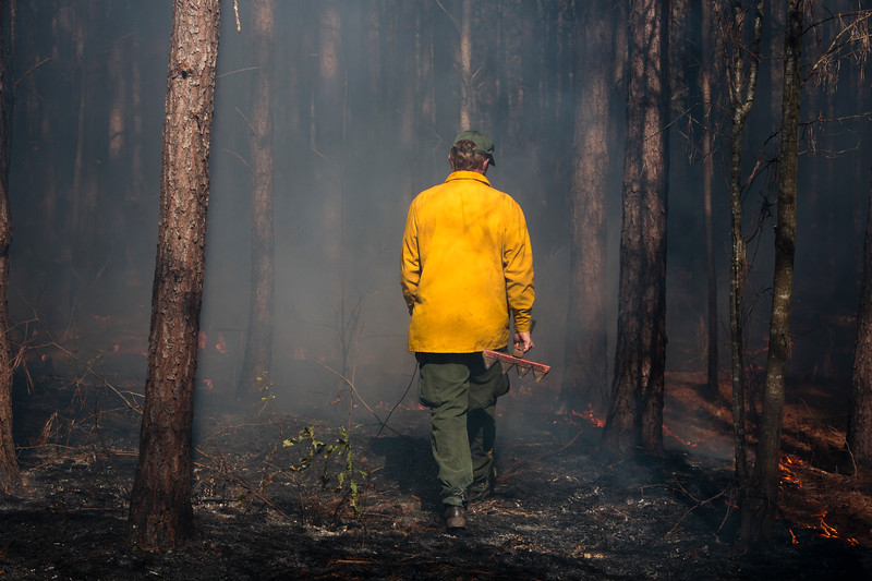 Nadav Soroker/Times-Georgian<br /> <br /> A Learn and Burn event hosted by the West Georgia Woodlands Association and the Georgia Forestry Commission, on Monday, March 18, 2019.