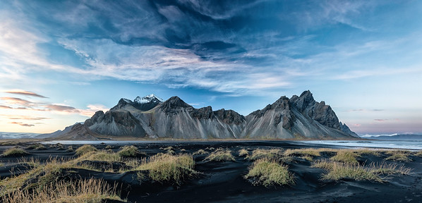 Vesturhorn, Sunset and Clouds