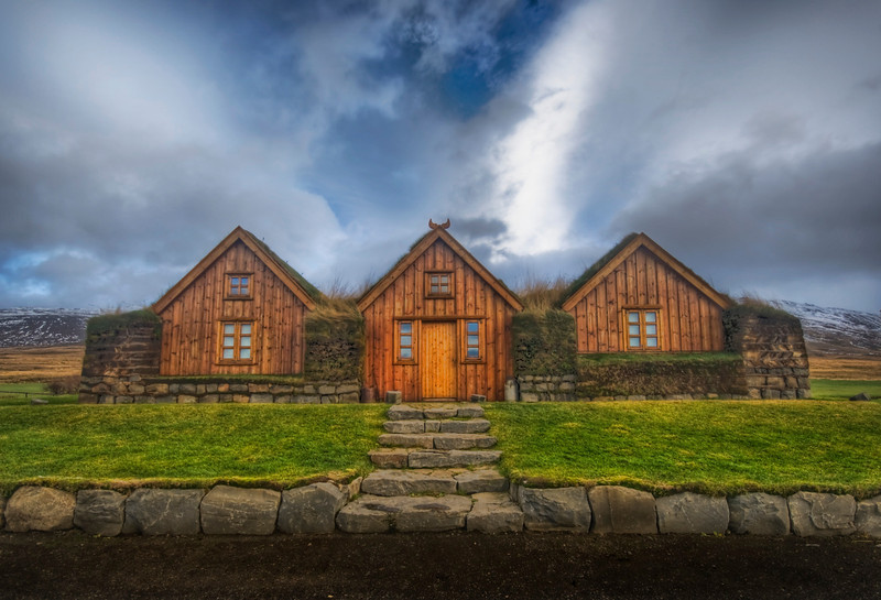 """<h2>Three Houses with a Grass Roof</h2> <br/>This was found in the countryside of Iceland, which roughly describes most of Iceland.<br/><br/>- Trey Ratcliff<br/><br/><a href=""""http://www.stuckincustoms.com/2008/06/28/three-houses-with-a-grass-roof/"""" rel=""""nofollow"""">Click here to read the rest of this post at the Stuck in Customs blog.</a>"""