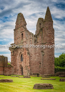 the substantial ruins of a Tironensian monastery, founded by William the Lion in 1178, who is buried in Arbroath Abbey. Arbroath Abbey is famously associated with the Declaration of Arbroath of 1320, which asserted Scotland's independence from England. Parts of the abbey church and domestic buildings remain, notably the gatehouse range and the abbot's house.