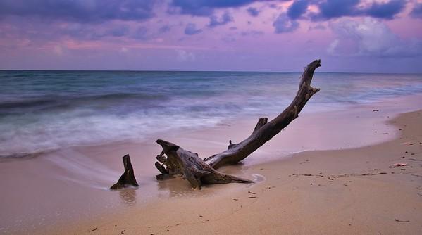 Sun rises on Caribbean Sea