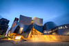 "<h2>The Walt Disney Concert Hall</h2> <p>This is probably the coolest building in Los Angeles. It was designed by the famous architect Frank Gehry in 1991 and construction began in 1999.</p> <p>I went out to shoot this location in HDR. I was really hoping it would rain to get nice slick reflections on the ground but the opposite happened. The weather cleared up giving me nice skies which I'm also happy with.   <p>Read more about this photo of the <a href=""http://alikgriffin.com/blog/dec/26/walt-disney-concert-hall"">Walt Disney Concert Hall and my HDR method at AlikGriffin.com</a></p>"