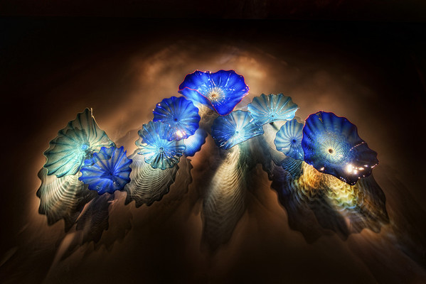 """Chihuly in Space I know you guys don't get tired of the Chihuly pieces, and neither do I!  In fact, I like this one so much that I use it as my desktop wallpaper. Just as much thought goes into lighting these as it does the creation.  I always wonder if he has the """"lighting scenario"""" in mind when forming the piece and its colors.  Or maybe, it's just so awesome and naturally formed that it looks good under any kind of light.  Heck, it would probably even look good in a 7-11 at 1 AM when all the pasty-lonely people stumble in for a Big Gulp and a Snickers.  I can say this because I am often one of those people.By the way, you all are free to use my images as desktop wallpaper, for fun, on your blogs, etc.  That is the beauty of the Creative Commons license.  If you are going to use them for any commercial purposes whatsoever, contact licensing at stuckincustoms.com -- the team there will take care of you.- Trey RatcliffClick here to read the rest of this post at the Stuck in Customs blog."""