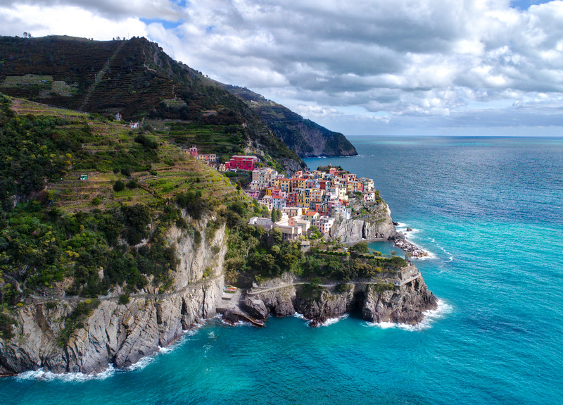 Beautiful Cinque Terre from Above