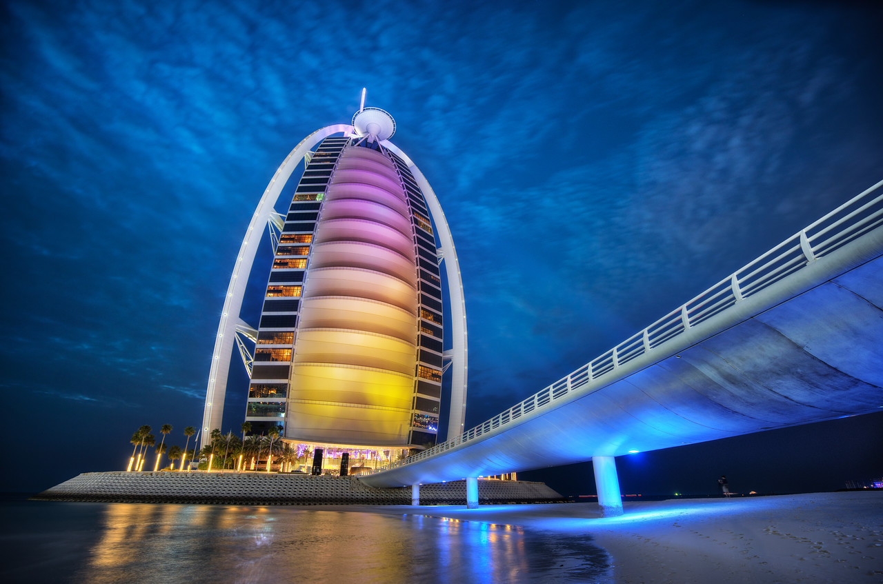 Approaching the Burj Al Arab on the Beach