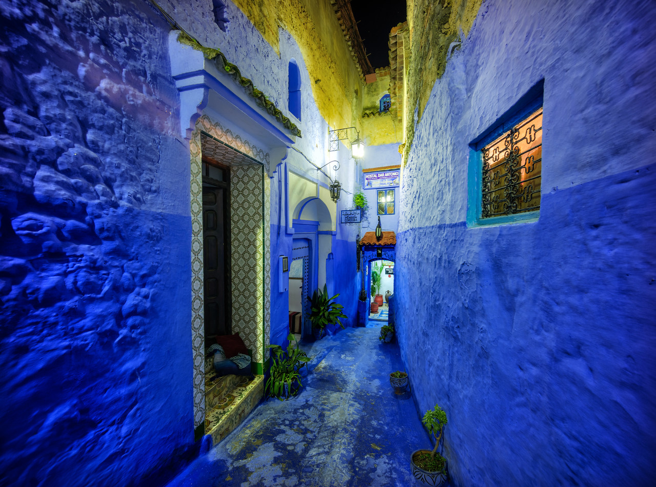 Night Streets of Chefchaouen