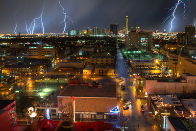 Lightening In Las Vegas