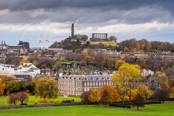 Holyrood Palace and Calton Hill in Edinburgh