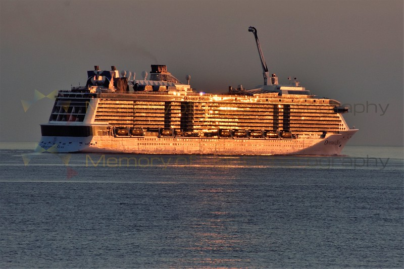 Golden Glow on the Ovation of the Seas