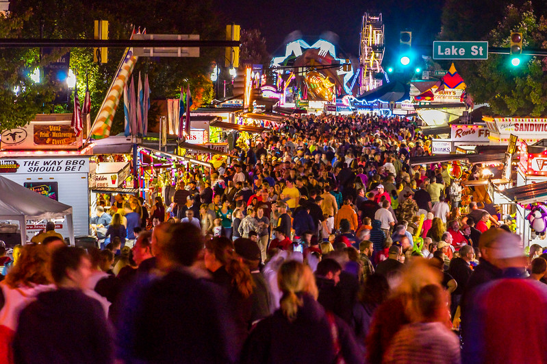 Crowds of People at the Fair
