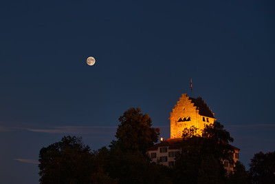 Full Moon over Castle of Uster